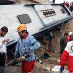 واژگونی اتوبوس در اتوبان تهران – قم