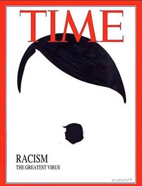 طرح روی جلد مجله تایم درباره اعتراضات آمریکا