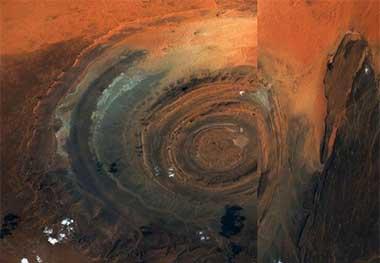 چشم صحرای بزرگ آفریقا!
