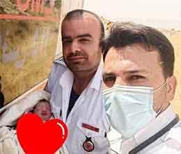 تولد نوزاد عجول در آمبولانس اورژانس دهدشت