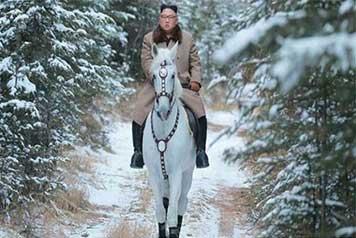 تصاویر جدید از «اون» سوار بر اسب سفید