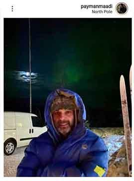 پیمان معادی در سرمای منفی ۲۸ درجه قطب شمال